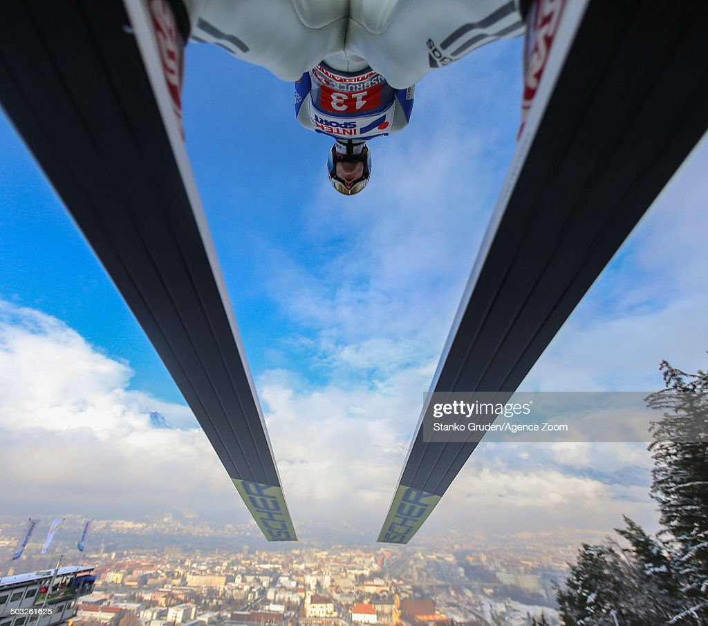 Kenneth Gangnes of Norway takes 3rd place during the FIS Nordic World Cup Four Hills Tournament on January 3, 2016 in Innsbruck, Austria.