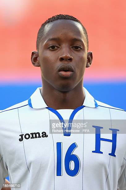 Kenneth Hernandez of Honduras during the FIFA U17 World Cup UAE 2013 Group A match between Slovakia and Honduras at the Mohamed Bin Zayed Stadium on...