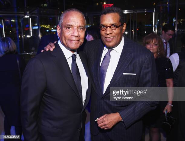 Kenneth I Chenault and Fred Terrell attend the Winter Gala at Lincoln Center at Alice Tully Hall on February 13 2018 in New York City