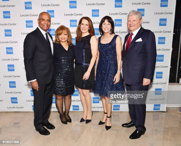 Kenneth I Chenault Kathryn Chenault Debora Spar Katherine Farley and Jerry Speyer attends the Winter Gala at Lincoln Center at Alice Tully Hall on...