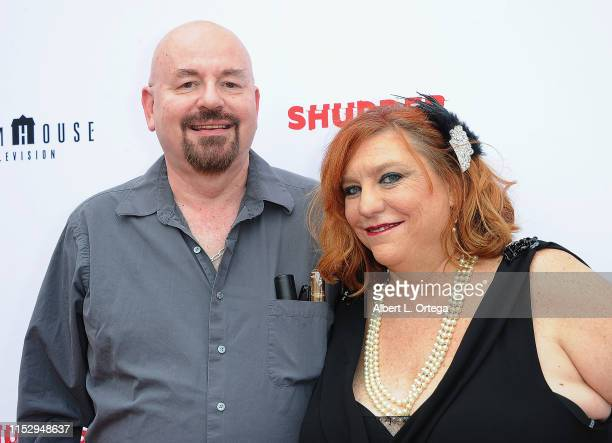 Kenneth J Hall and Amanda DuchowHall attend the 6th Annual Etheria Film Showcase held at American Cinematheque's Egyptian Theatre on June 29 2019 in...