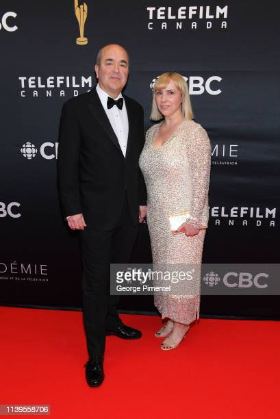 Kenneth J Harvey and Kelly Meadus attend the 2019 Canadian Screen Awards Broadcast Gala at Sony Centre for the Performing Arts on March 31 2019 in...