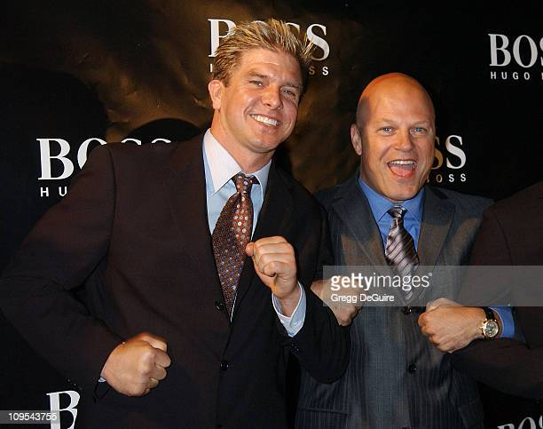 """Kenneth Johnson & Michael Chiklis of """"The Shield"""" during Hugo Boss Celebrates The Re-Opening Of Their Rodeo Drive Store at Hugo Boss Store in Beverly..."""