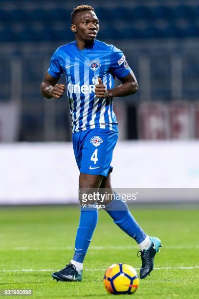 Kenneth Josiah Omeruo of Kasimpasa AS during the Turkish Spor Toto Super Lig match between Kasimpasa AS and Antalyaspor AS at the Recep Tayyip...