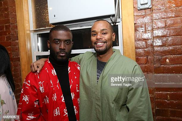 Kenneth Kyrell and Michael Arceneaux attend the Soul Train Soul Food Vegan Dinner Party on November 21 2016 in New York City