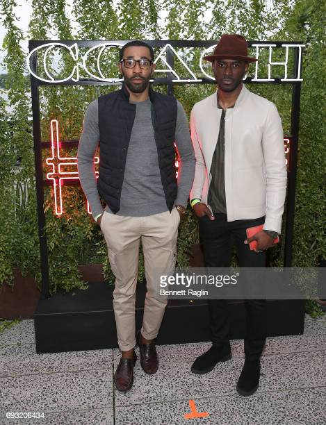Kenneth Kyrell and Ryan Clark attend the Coach and Friends of the High Line Summer Party at High Line on June 6 2017 in New York City