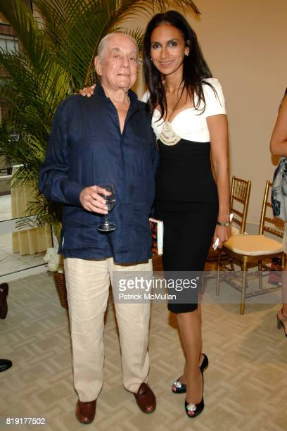 Kenneth Lane and Susan FalesHill attend Susan FalesHill's ONE FLIGHT UP Book Launch Party at 15 Central Park West on July 21st 2010 in New York City
