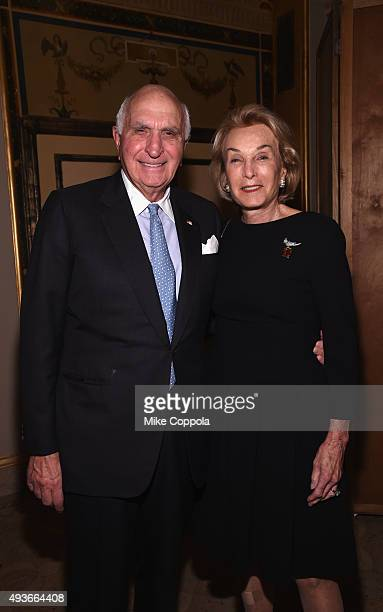 Kenneth Langone and Elaine Langone attend NYU Langone Medical Center's Perlmutter Cancer Center Gala at The Plaza Hotel on October 21 2015 in New...