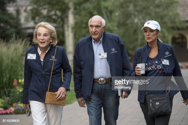 Kenneth Langone chairman and chief executive officer of Invemed Associates Inc center arrives for the morning sessions during the Allen Co Media and...