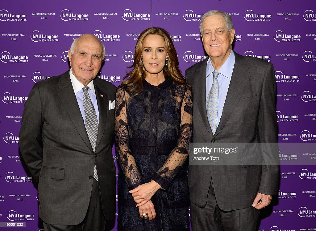 Kenneth Langone, Julia Koch, David Koch attend NYU Langone Musculoskeletal Ball 2015 on November 3, 2015 in New York City.