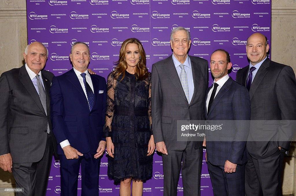 Kenneth Langone, Robert Grossman, MD., Julia Koch, David Koch, Roy Davidovitch, MD., and Gary Cohn attend NYU Langone Musculoskeletal Ball 2015 on November 3, 2015 in New York City.
