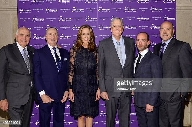 Kenneth Langone Robert Grossman MD Julia Koch David Koch Roy Davidovitch MD and Gary Cohn attend NYU Langone Musculoskeletal Ball 2015 on November 3...