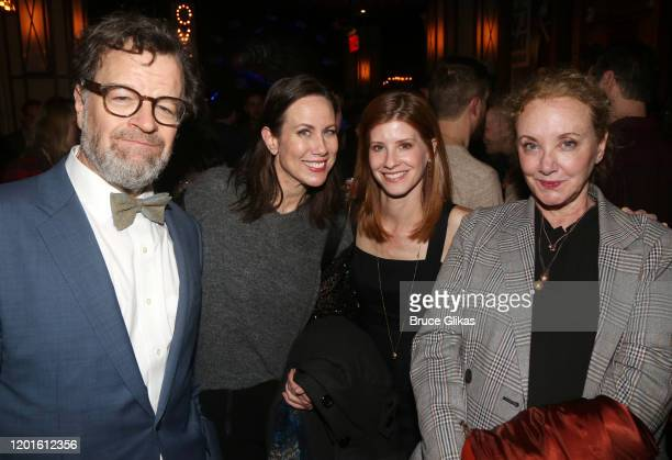 """Kenneth Lonergan, Miriam Shor,Mandy Siegfried and J. Smith-Cameron pose at the opening night after party for the new Second Stage play """"Grand..."""