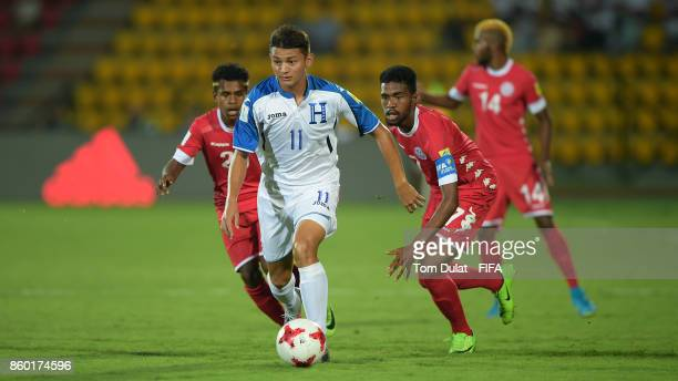 Kenneth Martinez of Honduras in action during the FIFA U17 World Cup India 2017 group E match between Honduras and New Caledonia at Indira Gandhi...