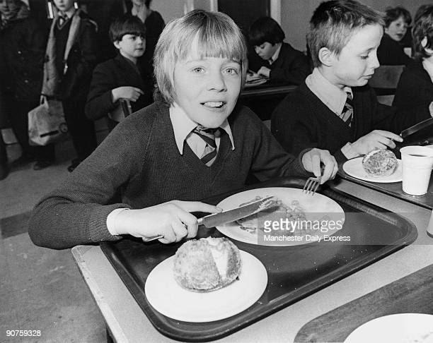Kenneth Middleton tucks into his lunch