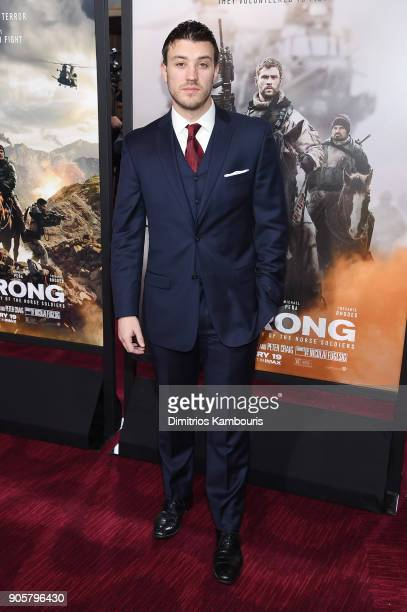 "Kenneth Miller attends the world premiere of ""12 Strong"" at Jazz at Lincoln Center on January 16, 2018 in New York City."