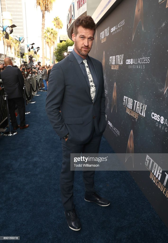 Kenneth Mitchell attends the premiere of CBS's 'Star Trek: Discovery' at The Cinerama Dome on September 19, 2017 in Los Angeles, California.
