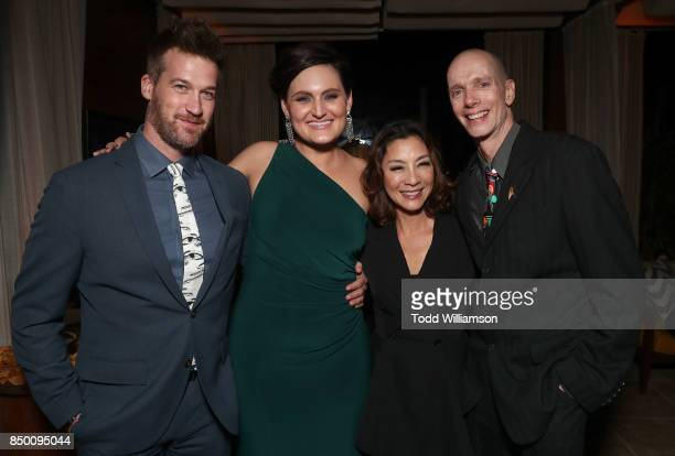 Kenneth Mitchell Mary Chieffo Michelle Yeoh and Doug Jones attend the after party for the premiere of CBS's 'Star Trek Discovery' at the Dream Hotel...