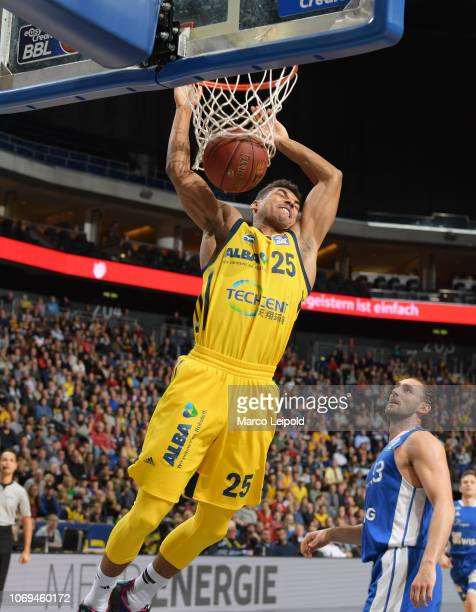Kenneth Ogbe of Alba Berlin during the game between Alba Berlin and the Skyliners Frankfurt at the Mercedes Benz Arena on december 7, 2018 in Berlin,...