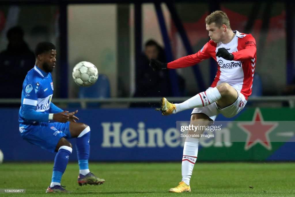 Kenneth Paal Of Pec Zwolle Nikolai Laursen Of Fc Emmen During The News Photo Getty Images