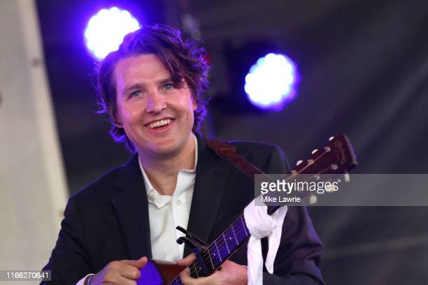 Kenneth Pattengale of The Milk Carton Kids performs during day three of the 2019 Newport Folk Festival at Fort Adams State Park on July 28, 2019 in...