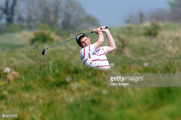 Kenneth Revie of Ballymena playing from the 18th fairway during the Glenmuir PGA Professional Championship 2008 Irish Region Qualifier at County...