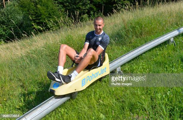 Kenneth Schuermans during team bonding activities during the OHL Leuven training session on July 09 2018 in Maribor Slovenia