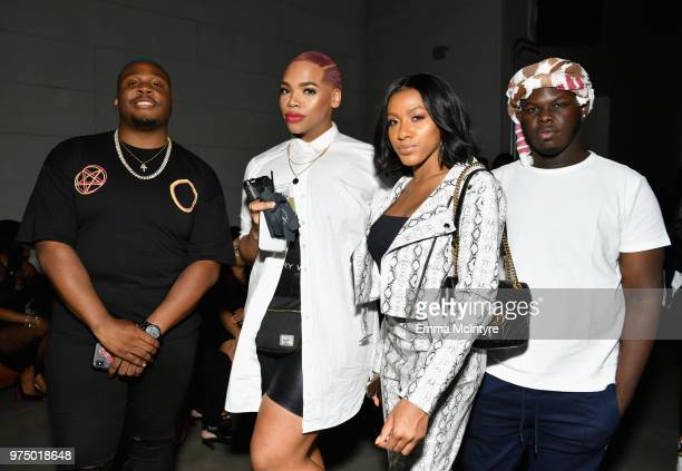 Kenneth Senegal and guests attend MAC Cosmetics Aaliyah Launch Party on June 14 2018 in Hollywood California