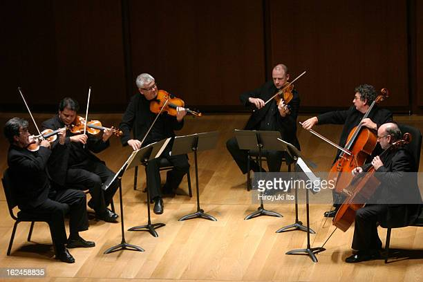 Kenneth Sillito on violin far left leads the Academy of St Martin in the Fields Chamber Ensemble in the program of Dvorak Shostakovich and...