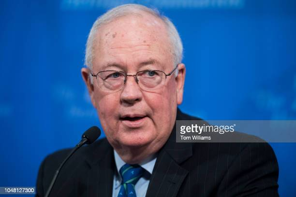 Kenneth Starr former independent counsel participates in a discussion at The Heritage Foundation titled The Power and Limits of Special Counsels on...