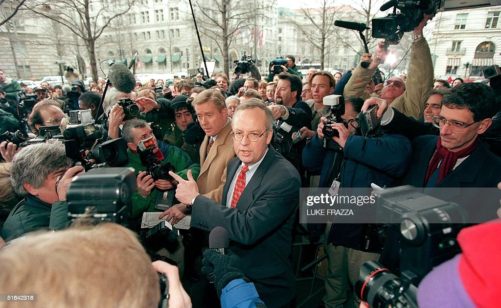 Kenneth Starr, independent Whitewater counsel, is : News Photo