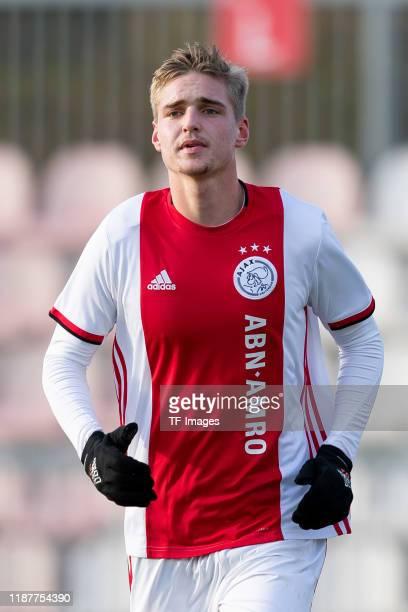 Kenneth Taylor of Ajax Amsterdam U19 looks on during the UEFA Youth League match between Ajax Amsterdam U19 and FC Valencia U19 on December 10 2019...
