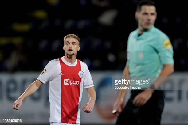 Kenneth Taylor of Ajax during the Dutch Eredivisie match between Fortuna Sittard v Ajax at the Fortuna Sittard Stadium on September 21, 2021 in...