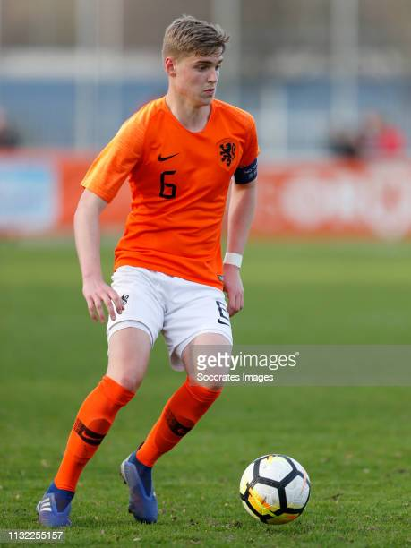 Kenneth Taylor of Holland U17 during the match between Holland U17 v Israel U17 at the Sportpark Zegersloot on March 23 2019 in Alphen a/d Rijn...