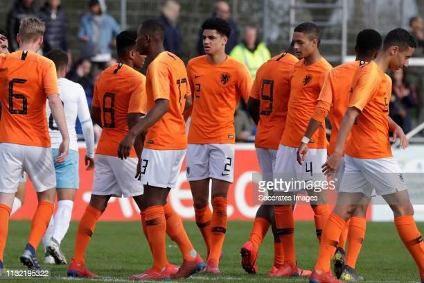 Kenneth Taylor of Holland U17 Ian Maatsen of Holland U17 n3 Ki Jana Hoever of Holland U17 Devyne Rensch of Holland U17 during the match between...