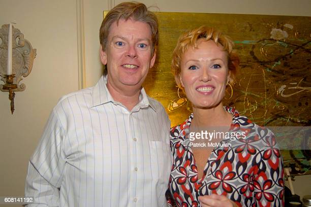 Kenneth Teaton and Carrie Furlong attend MICHAEL S SMITH AGRARIA COLLECTION LAUNCH at Lowell Hotel on April 18 2007