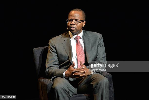 Kenneth Thompson District Attorney Kings County attends the 2016 'Tina Brown Live Media's American Justice Summit' at Gerald W Lynch Theatre on...