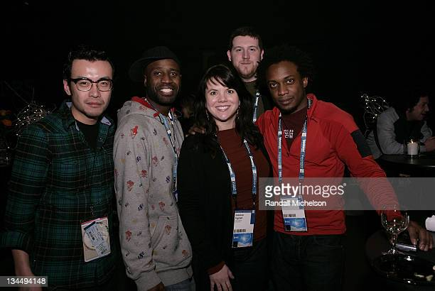Kenneth Tin-Kin Hung, Bayete Ross Smith, Jessica Ingram, Hank Willis Thomas and guest attend the PBS Reception at the Sundance House during the 2008...