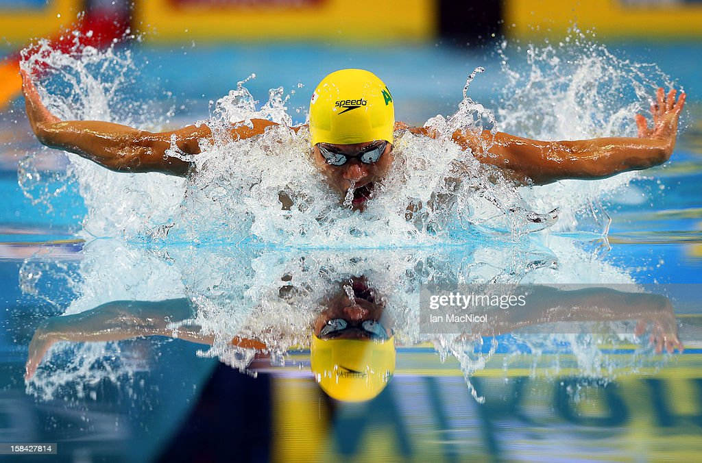 Kenneth To of Australia competes in the final of the men's 100m IM during day five of the 11th FINA Short Course World Championships at the Sinan Erdem Dome on December 16, 2012 in Istanbul, Turkey.