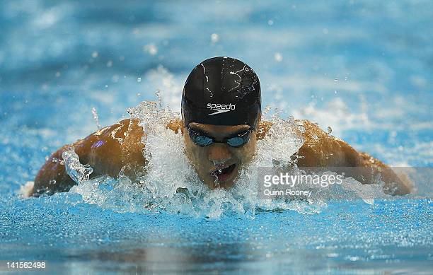 Kenneth To of Australia competes in the Heats of the Men's 200 Metre Individual Medley during day five of the Australian Olympic Swimming Trials at...