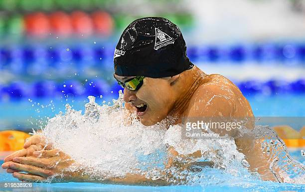 Kenneth To of Australia competes in the Men's 100 Metre Breaststroke during day one of the 2016 Hancock Prospecting Australian Swimming Championships...