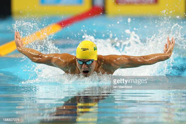 Kenneth To of Australia competes in the Men's 100m Butterfly during day one the FINA World Short Course Swimming Championships on December 12 2012 in...
