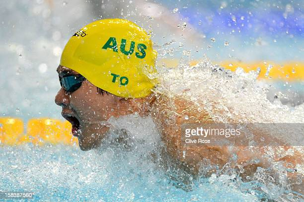 Kenneth To of Australia competes in the Men's 100m Individual Medley heats during day four of the 11th FINA Short Course World Championships at the...
