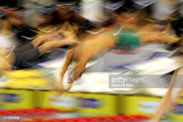 Kenneth To of Australia competes in the Mens 200 Metre Individual Medley Semi Final during day five of the Australian Olympic Swimming Trials at the...