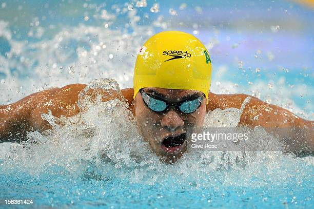Kenneth To of Australia competes in the Men's 200m Breaststroke heats during day three of the 11th FINA Short Course World Championships at the Sinan...