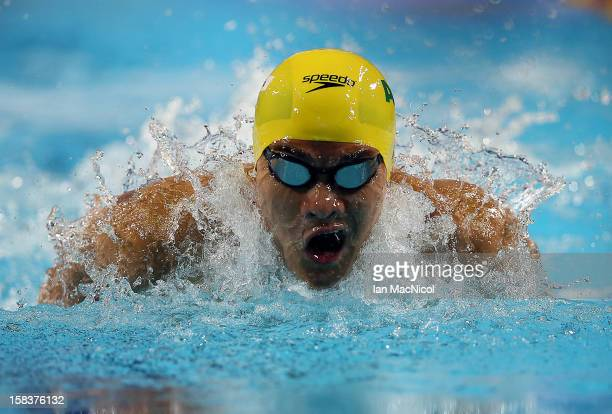 Kenneth To of Australia competes in the Men's 200m IM final during day three of the FINA World Short Course Swimming Championships on December 14...