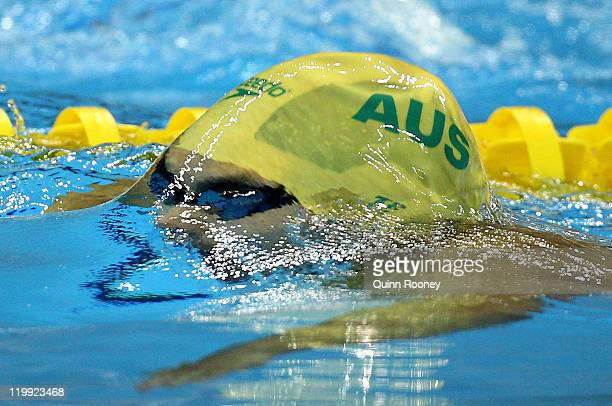 Kenneth To of Australia competes in the Men's 200m Individual Medley Semi Final during Day Twelve of the 14th FINA World Championships at the...