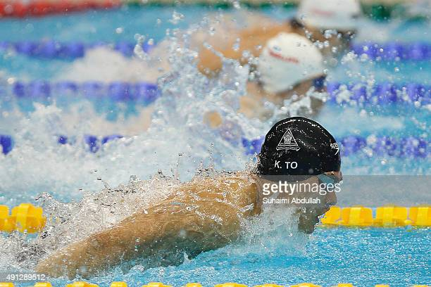 Kenneth To of Australia competes in the Men's 200m Individual Medley Final during the FINA World Cup at the OCBC Aquatic Centre on October 4 2015 in...