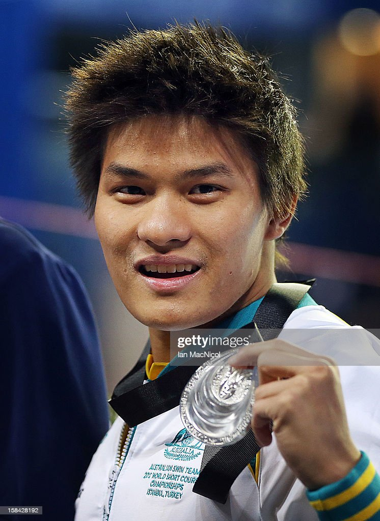 Kenneth To of Australia poses with his silver medal from the Men's 10m individual medley during day five of the 11th FINA Short Course World Championships at the Sinan Erdem Dome on December 16, 2012 in Istanbul, Turkey.