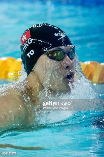 Kenneth To of Hong Kong during the FINA Swimming World Cup Men's 200m Individual Medley Heat 1 on October 01 2017 in Hong Kong Hong Kong